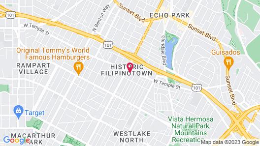 Downtown LA Cozy Nights Map