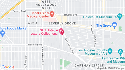 SLS Hotel, a Luxury Collection Hotel, Beverly Hills Map