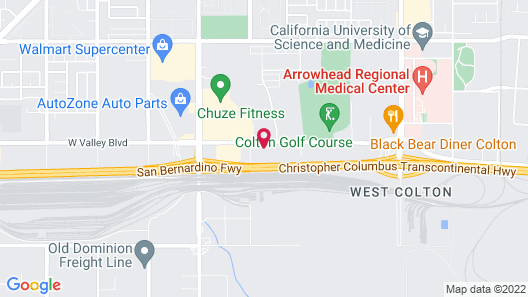 WoodSpring Suites Colton Map