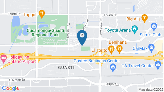 Comfort Inn & Suites near Ontario Airport Map