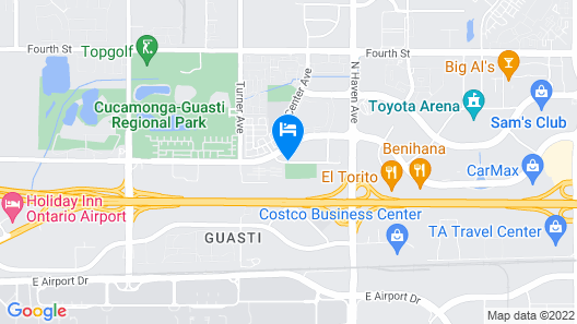 Comfort Inn & Suites near Ontario Airport Map