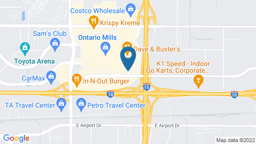 Hyatt Place Ontario / Rancho Cucamonga Map