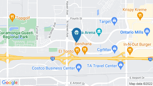 La Quinta Inn & Suites by Wyndham Ontario Airport Map