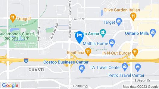 La Quinta Inn & Suites by Wyndham Ontario Airport Map