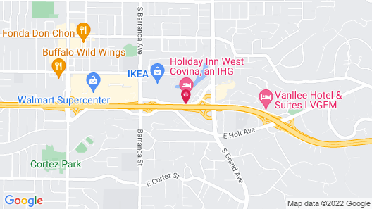 Holiday Inn West Covina Map