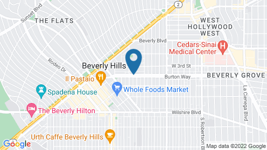Viceroy L'Ermitage Beverly Hills Map