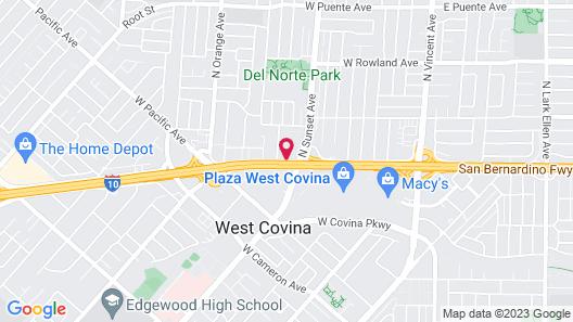 Walnut Inn & Suites West Covina Map