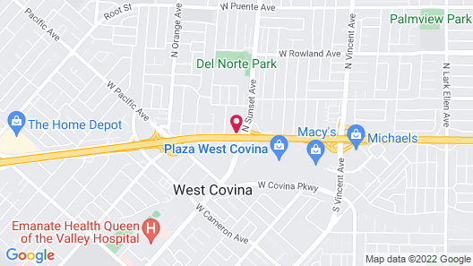 Travelodge Inn & Suites by Wyndham West Covina Map