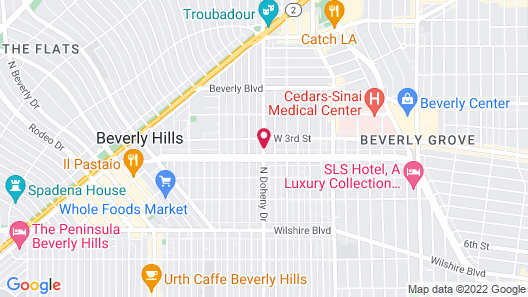 Four Seasons Los Angeles at Beverly Hills Map