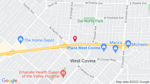Covina Motel Map