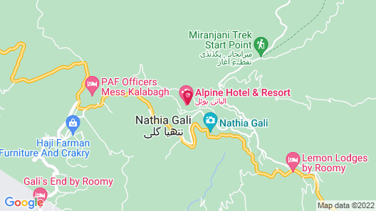 Alpine Hotel  Nathiagali Map