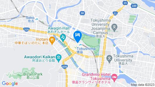 JR Hotel Clement Tokushima Map