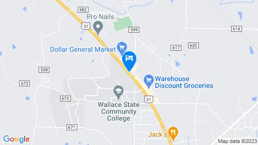 Quality Inn Hanceville US Hwy 31 Map