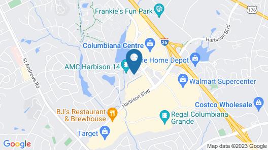 Aloft Columbia Harbison Map