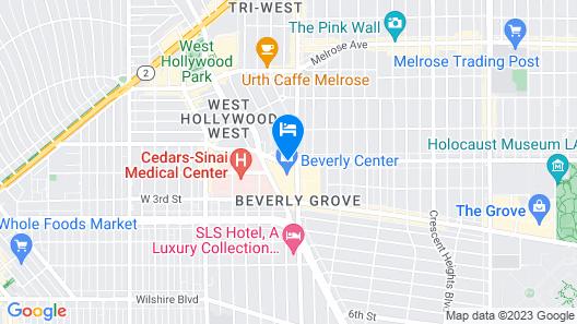 Sofitel LA at Beverly Hills Map