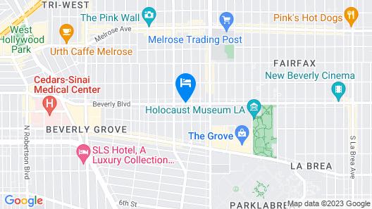 Beverly Laurel Hotel Map