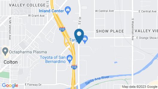 Orange Show Inn San Bernardino Map