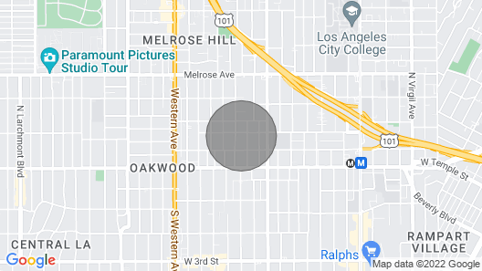 Los Angeles Hollywood Rooms Map