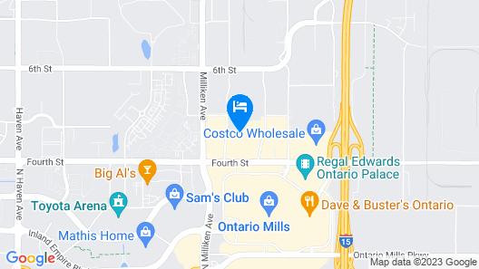 Homewood Suites by Hilton Ontario-Rancho Cucamonga Map