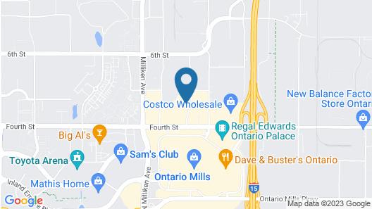 Hilton Garden Inn Ontario/Rancho Cucamonga Map