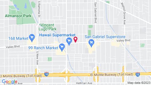 Sheraton Los Angeles San Gabriel Map