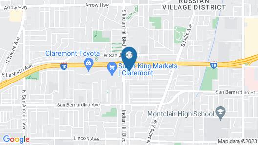Motel 6 Claremont, CA Map