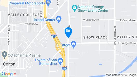 Knights Inn San Bernardino Map