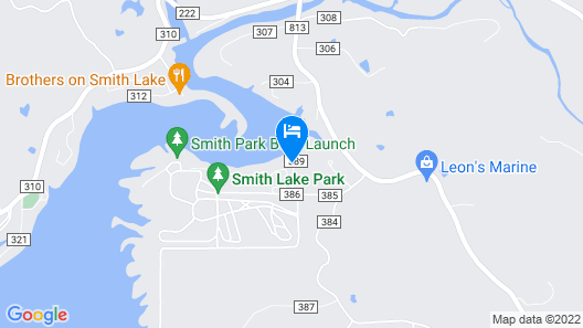 Little's On The Lake - A Contemporary Retreat On Smith Lake - Avl Pontoon Rental Map
