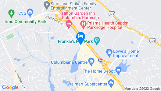 HomeTowne Studios & Suites Columbia Map