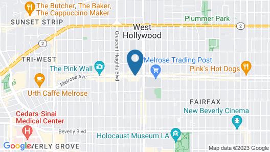 Palihotel Melrose Map