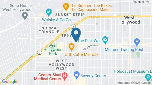Le Parc Suite Hotel Map