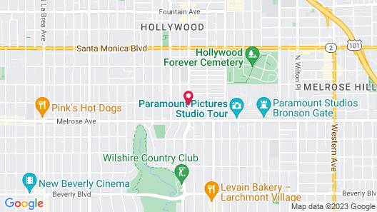 Rodeway Inn near Melrose Ave Map