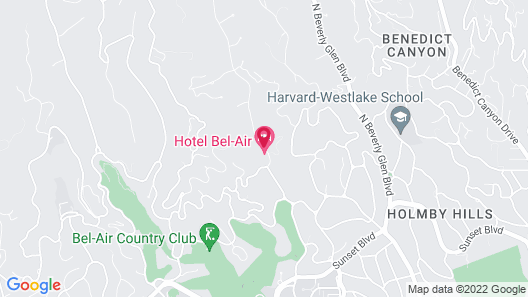 Hotel Bel-Air - Dorchester Collection Map