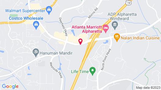 Hyatt Place Atlanta / Alpharetta / Windward Parkway Map