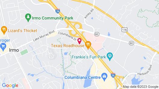 Towneplace Suites Columbia Northwest/Harbison Map