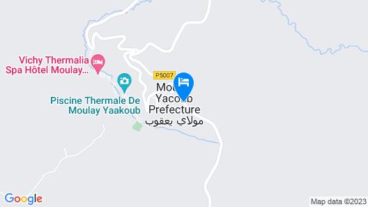 Hotel Moulay Yacoub Map