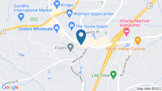 Sonesta ES Suites Atlanta Alpharetta Windward Map