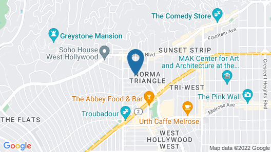 Montrose West Hollywood Map