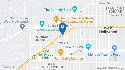 Ramada Plaza by Wyndham West Hollywood Hotel & Suites Map
