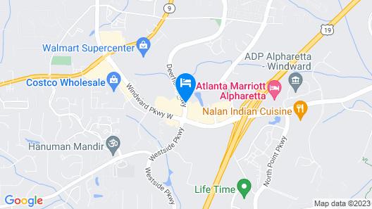 Courtyard by Marriott Atlanta Alpharetta Map