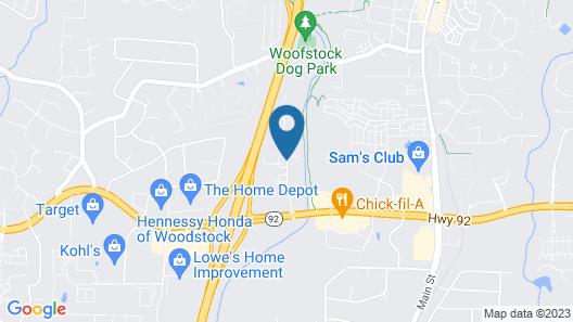 Hampton Inn Atlanta Woodstock Map