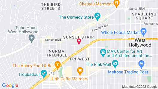 Chamberlain West Hollywood Map