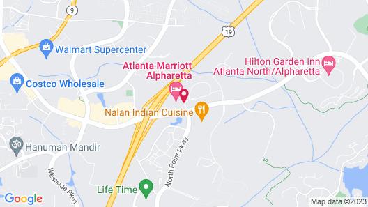 Atlanta Marriott Alpharetta Map