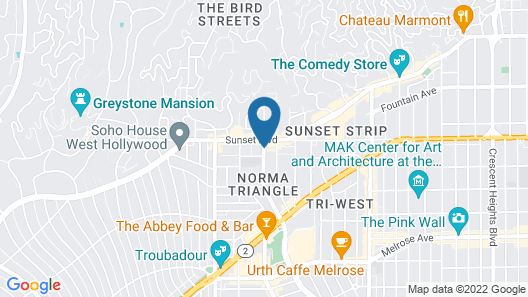 The London West Hollywood at Beverly Hills Map