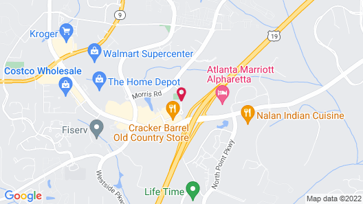 Hampton Inn & Suites Alpharetta, GA Map