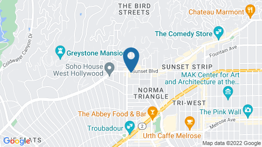 The West Hollywood EDITION Map