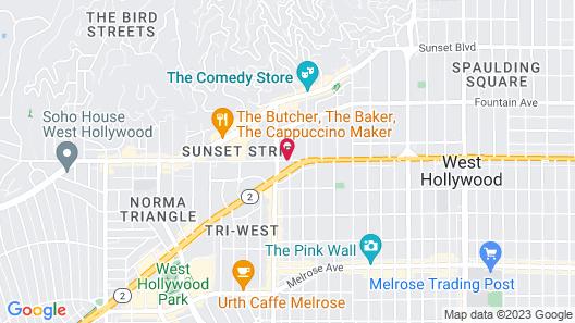 Palihouse West Hollywood Map