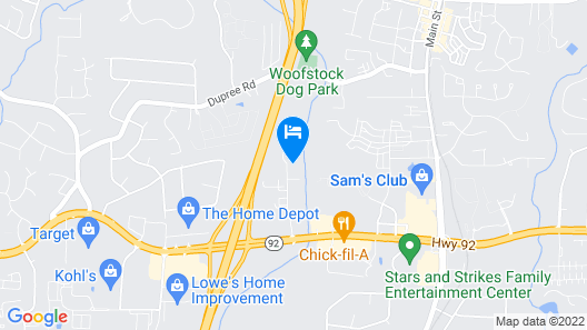 InTown Suites Extended Stay Woodstock GA Map
