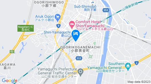 Toyoko Inn Shin-yamaguchi-eki Shinkansen-guchi Map