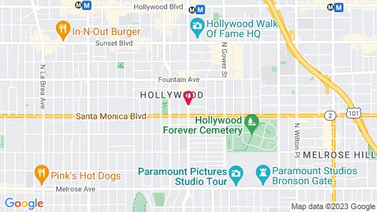 Hampton Inn & Suites Los Angeles/Hollywood Map
